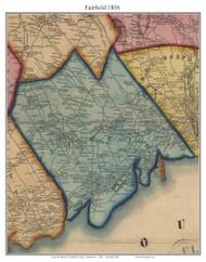 Fairfield, Connecticut 1856 Fairfield Co. - Old Map Custom Print