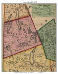 New Fairfield, Connecticut 1856 Fairfield Co. - Old Map Custom Print