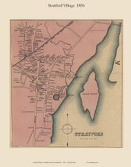 Stratford Village, Connecticut 1856 Fairfield Co. - Old Map Custom Print