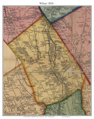 Wilton, Connecticut 1856 Fairfield Co. - Old Map Custom Print