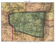 Avon, Connecticut 1855 Hartford Co. - Old Map Custom Print