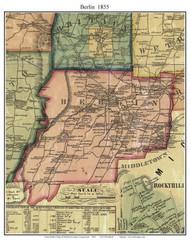 Berlin, Connecticut 1855 Hartford Co. - Old Map Custom Print