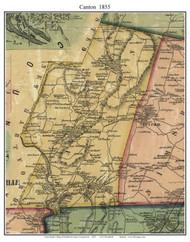 Canton, Connecticut 1855 Hartford Co. - Old Map Custom Print