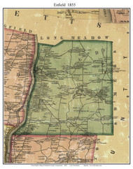 Enfield, Connecticut 1855 Hartford Co. - Old Map Custom Print
