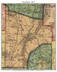 Farmington, Connecticut 1855 Hartford Co. - Old Map Custom Print