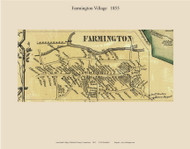 Farmington Village, Connecticut 1855 Hartford Co. - Old Map Custom Print