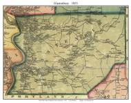 Glastenbury, Connecticut 1855 Hartford Co. - Old Map Custom Print