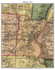 Hartford, Connecticut 1855 Hartford Co. - Old Map Custom Print