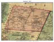 Hartland, Connecticut 1855 Hartford Co. - Old Map Custom Print