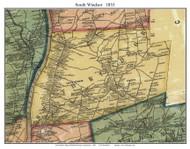 South Windsor, Connecticut 1855 Hartford Co. - Old Map Custom Print
