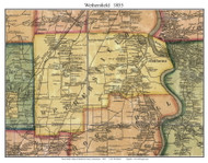Wethersfield, Connecticut 1855 Hartford Co. - Old Map Custom Print