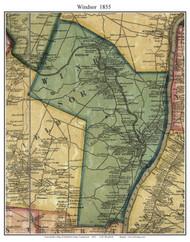 Windsor, Connecticut 1855 Hartford Co. - Old Map Custom Print