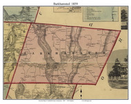 Barkhamsted, Connecticut 1859 Litchfield Co. - Old Map Custom Print