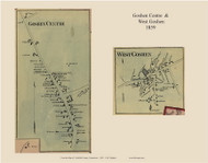 Goshen Centre and West Goshen Villages, Connecticut 1859 Litchfield Co. - Old Map Custom Print