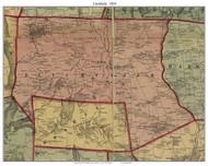 Litchfield, Connecticut 1859 Litchfield Co. - Old Map Custom Print