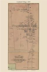 Litchfield Village, Connecticut 1859 Litchfield Co. - Old Map Custom Print