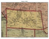 Morris, Connecticut 1859 Litchfield Co. - Old Map Custom Print