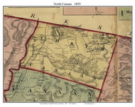 North Canaan, Connecticut 1859 Litchfield Co. - Old Map Custom Print