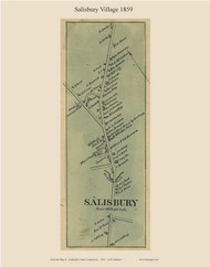Salisbury Village, Connecticut 1859 Litchfield Co. - Old Map Custom Print