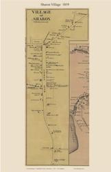 Sharon Village, Connecticut 1859 Litchfield Co. - Old Map Custom Print