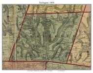 Torrington, Connecticut 1859 Litchfield Co. - Old Map Custom Print