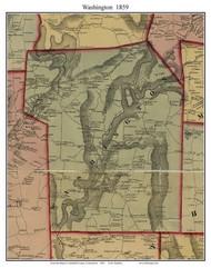 Washington, Connecticut 1859 Litchfield Co. - Old Map Custom Print