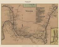 Winsted Village, Connecticut 1859 Litchfield Co. - Old Map Custom Print