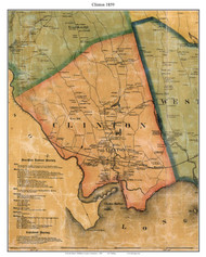 Clinton, Connecticut 1859 Middlesex Co. - Old Map Custom Print