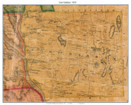 East Haddam, Connecticut 1859 Middlesex Co. - Old Map Custom Print
