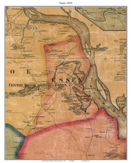 Essex, Connecticut 1859 Middlesex Co. - Old Map Custom Print