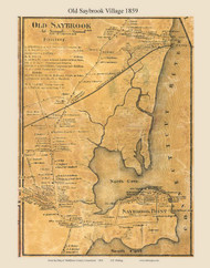 Old Saybrook Village, Connecticut 1859 Middlesex Co. - Old Map Custom Print