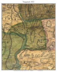 Naugatuck, Connecticut 1852 New Haven Co. - Old Map Custom Print