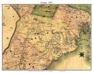 Orange, Connecticut 1852 New Haven Co. - Old Map Custom Print
