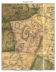 Prospect, Connecticut 1852 New Haven Co. - Old Map Custom Print