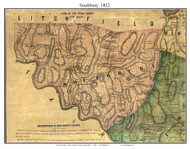 Southbury, Connecticut 1852 New Haven Co. - Old Map Custom Print