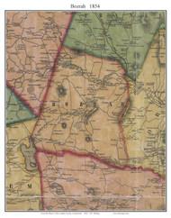 Bozrah, Connecticut 1854 New London Co. - Old Map Custom Print
