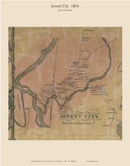 Jewett City, Connecticut 1854 New London Co. - Old Map Custom Print