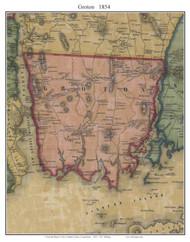 Groton, Connecticut 1854 New London Co. - Old Map Custom Print