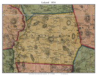 Ledyard, Connecticut 1854 New London Co. - Old Map Custom Print