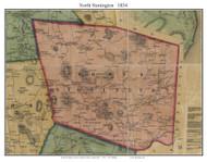 North Stonington, Connecticut 1854 New London Co. - Old Map Custom Print