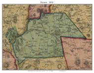 Preston, Connecticut 1854 New London Co. - Old Map Custom Print