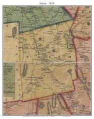 Salem, Connecticut 1854 New London Co. - Old Map Custom Print
