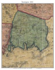 Stonington, Connecticut 1854 New London Co. - Old Map Custom Print