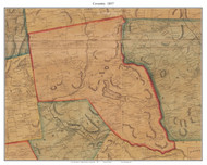 Coventry, Connecticut 1857 Tolland Co. - Old Map Custom Print