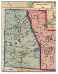 Ashford, Connecticut 1856 Windham Co. - Old Map Custom Print