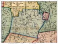 Brooklyn, Connecticut 1856 Windham Co. - Old Map Custom Print