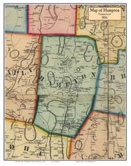 Hampton, Connecticut 1856 Windham Co. - Old Map Custom Print