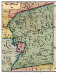 Killingly, Connecticut 1856 Windham Co. - Old Map Custom Print