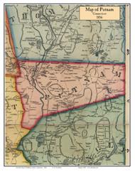 Putnam, Connecticut 1856 Windham Co. - Old Map Custom Print