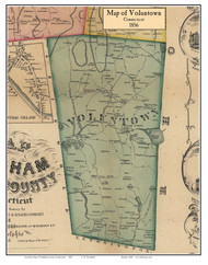 Voluntown, Connecticut 1856 Windham Co. - Old Map Custom Print